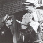 Otis rides a cow. Source: mayberry.wikia.com