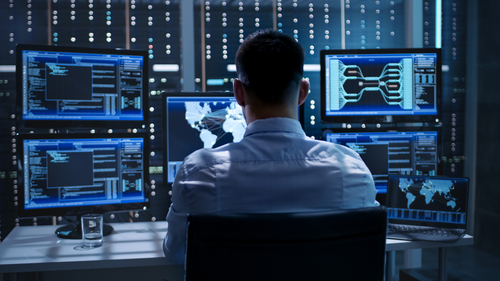 cybersecurity Control room