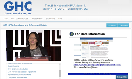 News from 2019 HIPAA Summit