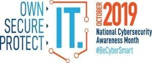 national cybersecurity awareness month logo b